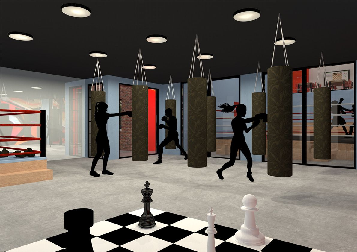 Bokszaal Schaakboksschool | Space Identity | Interieurvormgeving | Tiel