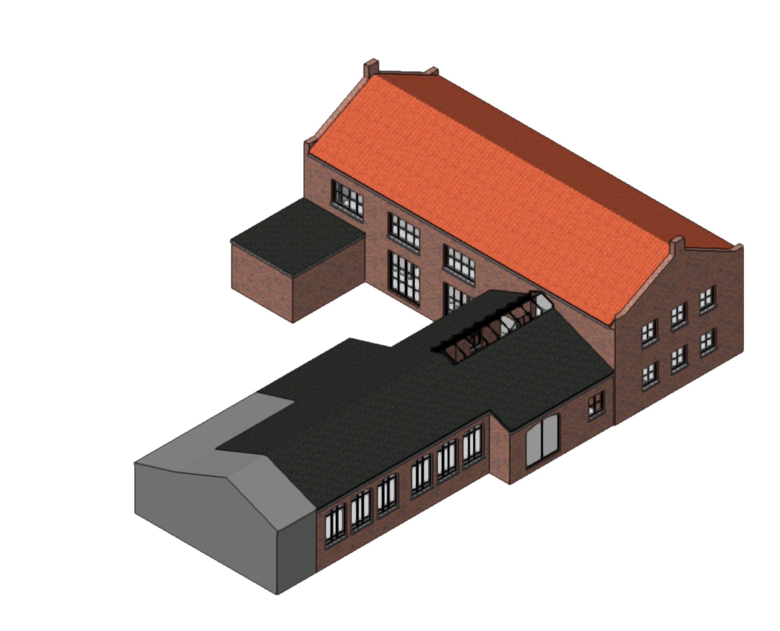 Buitenzijde Schaakboksschool | Space Identity | Interieurvormgeving | Tiel