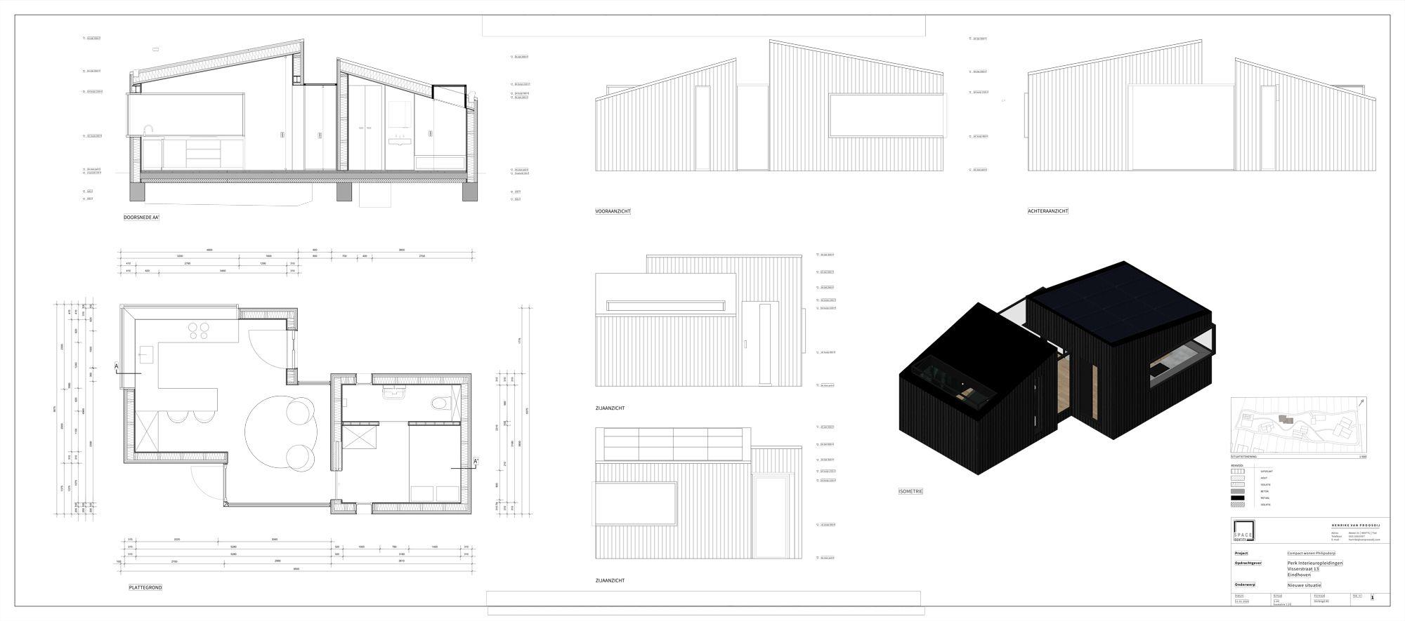 Compact wonen bouwtekeningen Schets compact wonen | Space identity | Interieurvormgeving Tiel