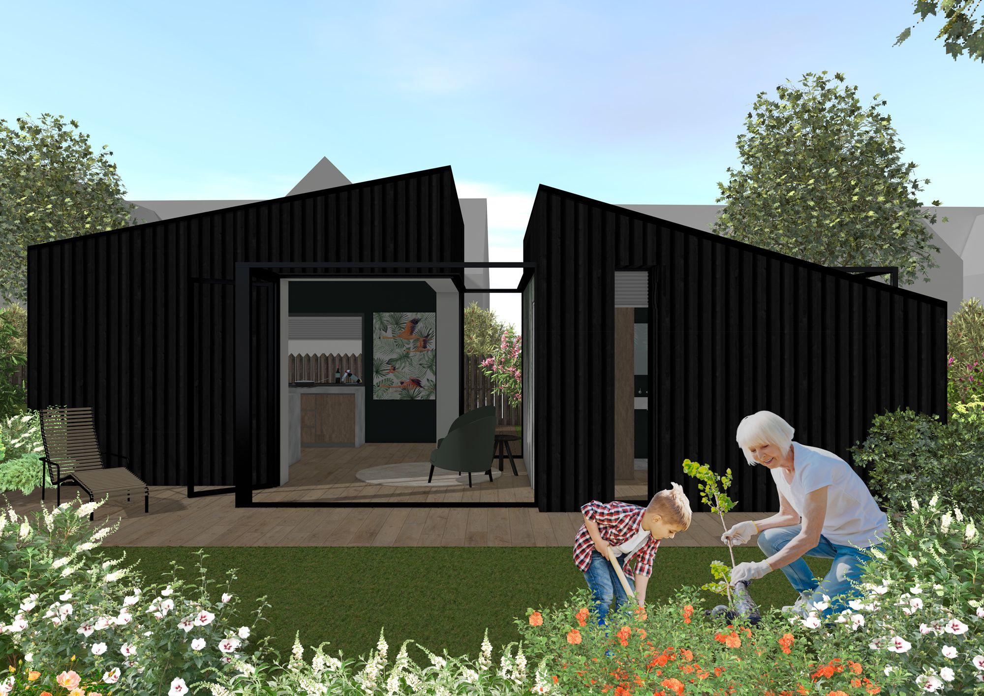 Buitenaanzicht project compact wonen inspiratieboard compact wonen | Space identity | Interieurvormgeving Tiel