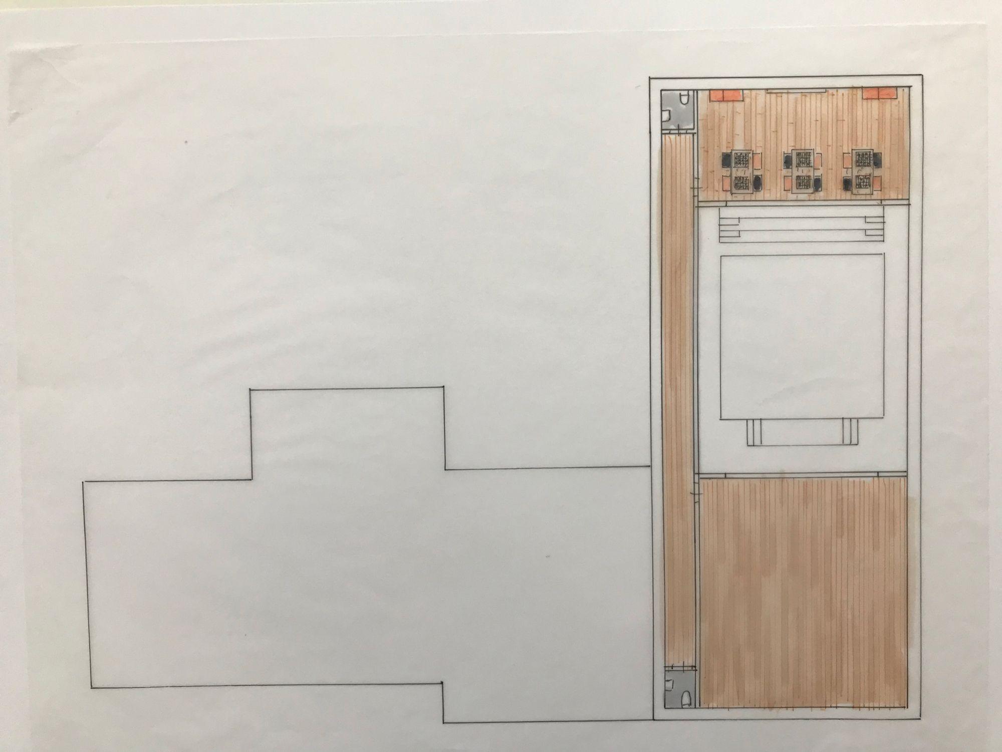 Tekening project schaakboksschool | Space Identity | Interieurvormgeving | Tiel