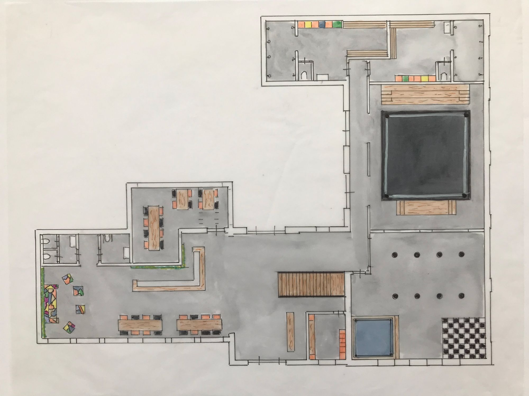 Schets project | Space Identity | Interieurvormgeving | Tiel